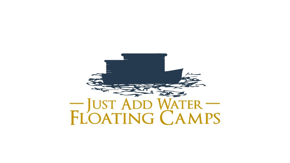 Just Add Water Floating Camps Rangeley Lake Maine Business Logo